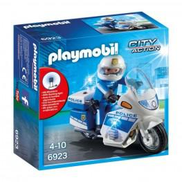 Playmobil Policia Con Moto y Luces LED.
