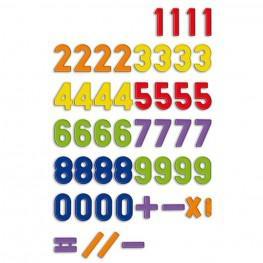 Bote Números Magnéticos 288 Piezas.