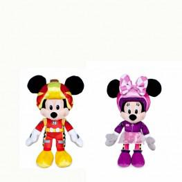 Peluche Super Pilotos Mickey & Minnie.