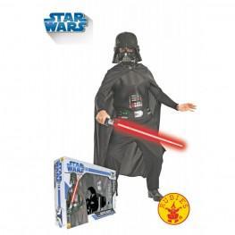 Disfraz Infantil Darth Vader Con Espada Talla M.