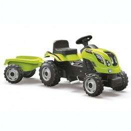 Tractor Verde Farmer XL con Remolque.