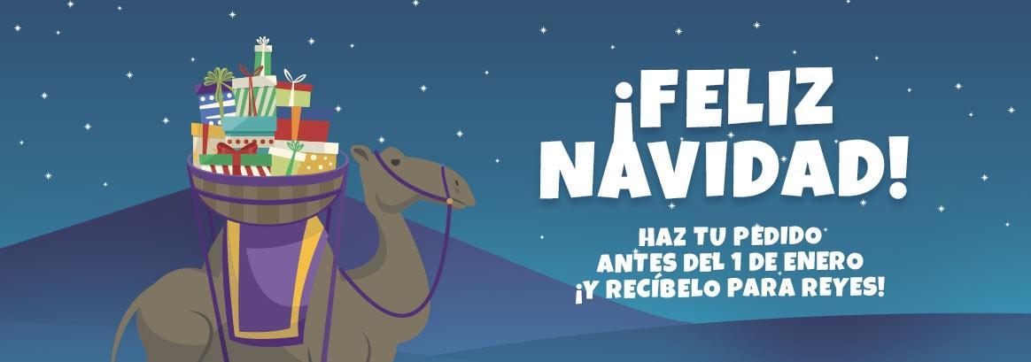 ¡FELIZ NAVIDAD! Haz tu pedido antes del 1 de enero ¡y recíbelo para Reyes!